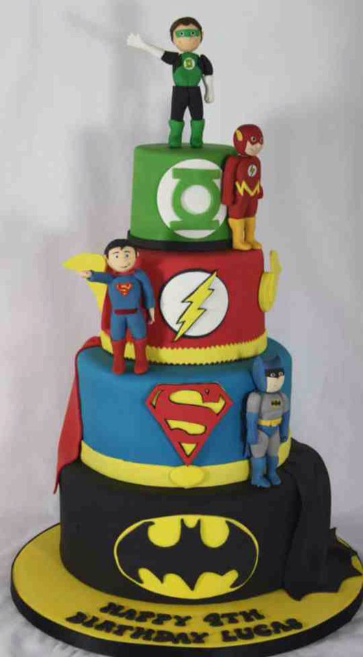 Justice League Cake With Images Superhero Birthday Cake