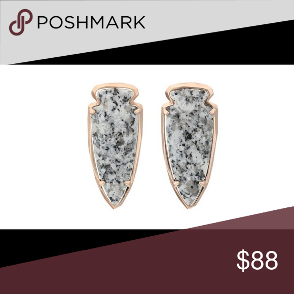 Kendra Scott Kathryn Granite & Rose Gold Earrings These stunning statement earrings feature semi precious granite stones with a rose gold finish and post back. Kendra Scott Jewelry Earrings