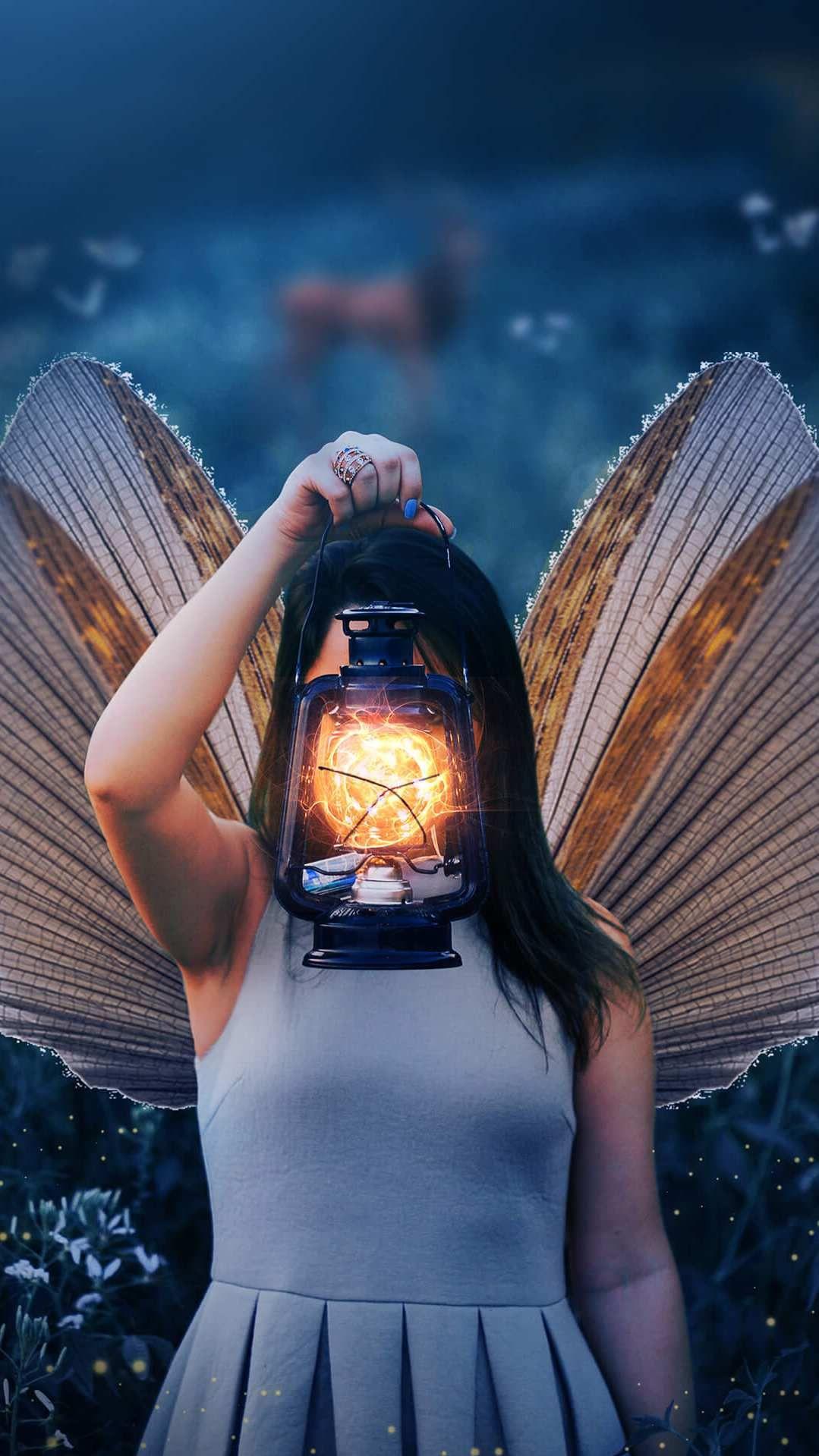 Butterfly Girl iPhone Wallpaper Girl iphone wallpaper