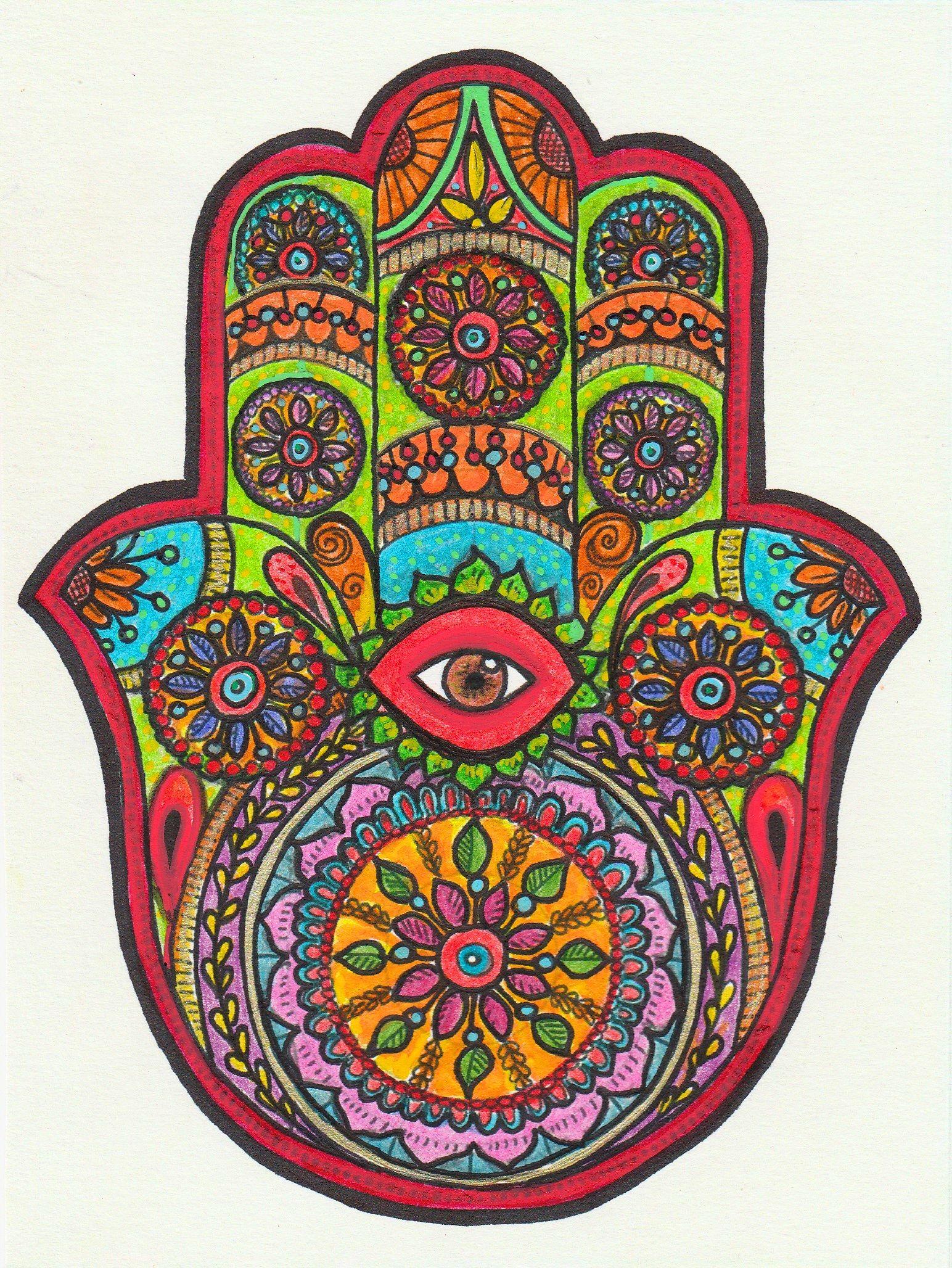 La Main De Fatma : fatma, Coloriages, Dessins, Colourings, Crayons, Couleurs/feutres/posca)