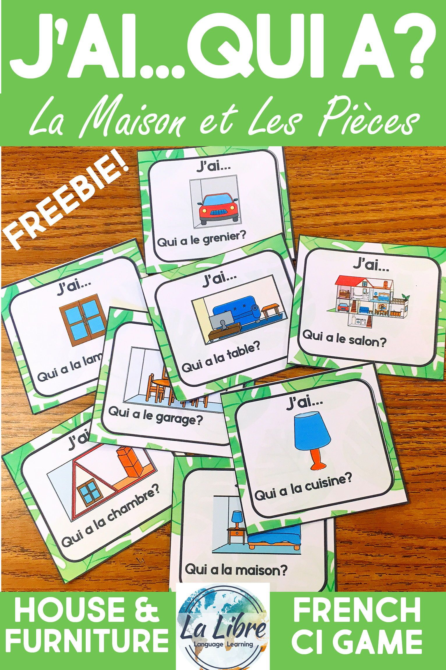J Ai Qui A La Maison French House And Furniture Activity Vocabulary Game