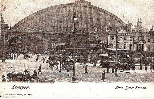 Liverpool Vintage Postcard - Lime Street Station Main Entrance circa 1905