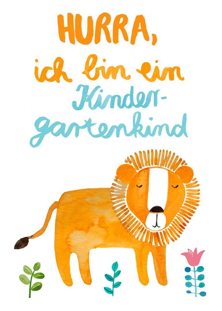 Postkarte In Gedanken Bei Dir Postkarten Kindergarten