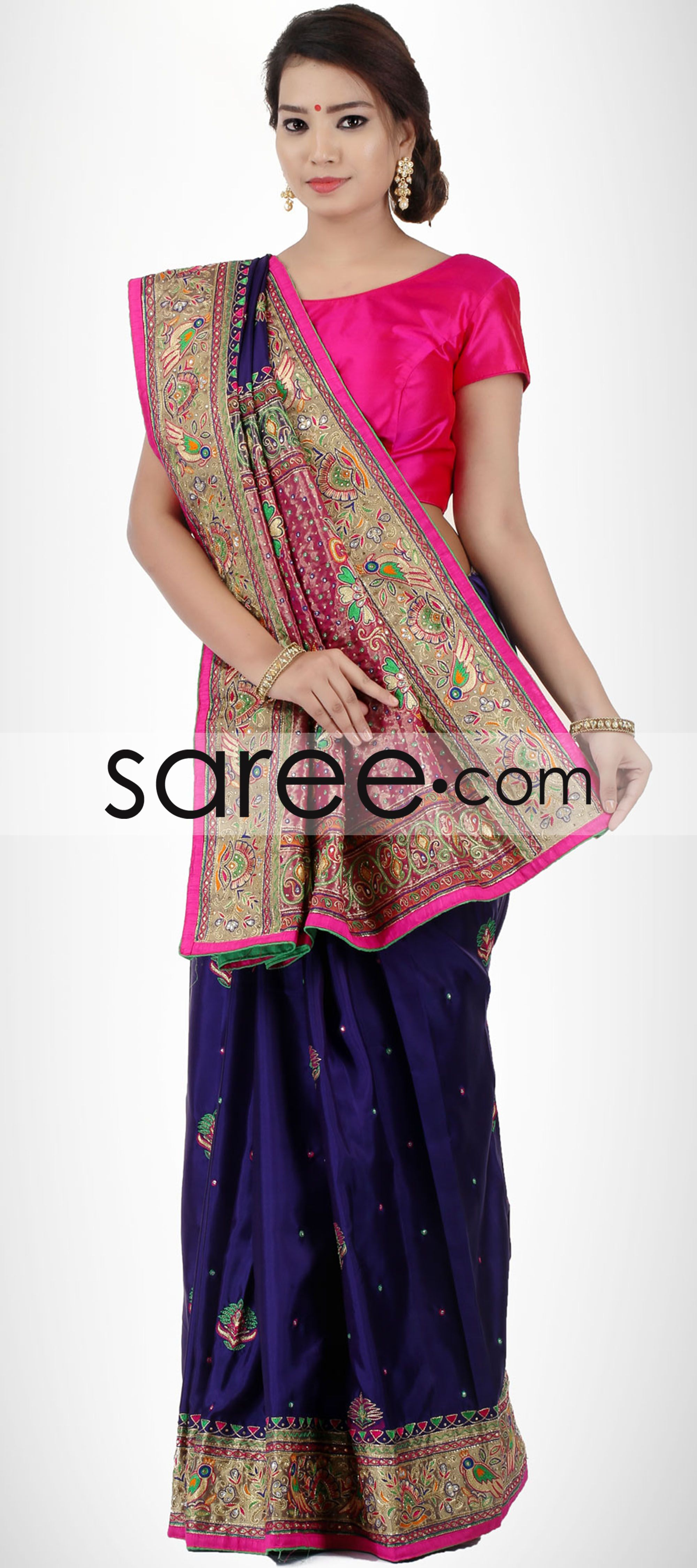 Blue And Purple Silk Saree With Resham Work By Asopalav Saree Chiffonsarees Georgettesarees Indiansaree Sarees Silksarees Partywearsarees