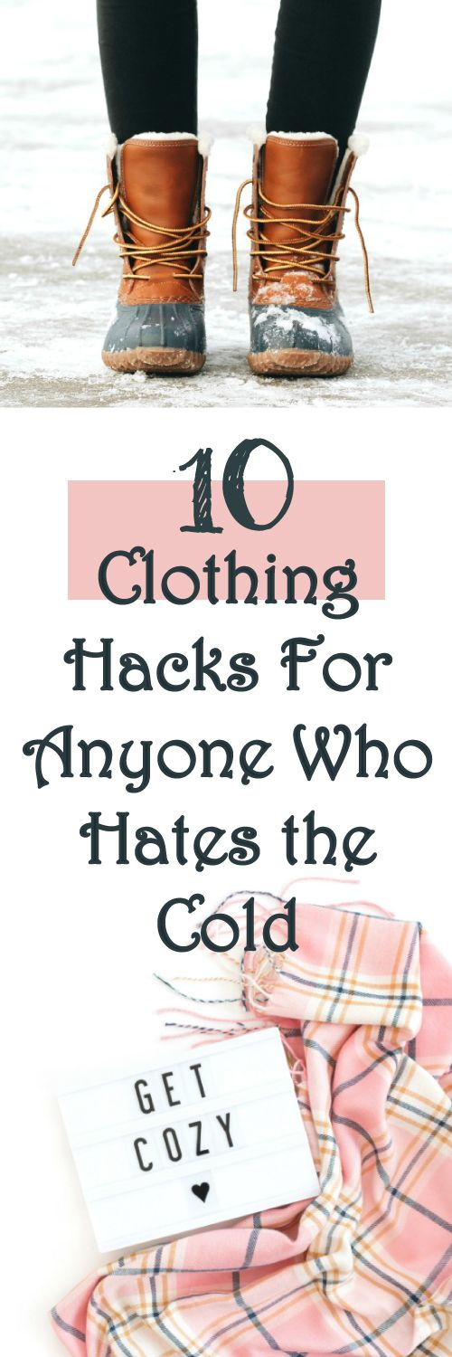 These 10 lazy girl cold weather hacks are THE BEST! I'm so happy I found these AMAZING clothing hacks! Now I have a great way to keep warm this cold season! Definitely pinning!