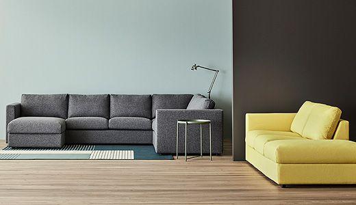 La moderna serie de sof s vimle ofrece varias combinaciones como un sof de esquina de cinco - Sofas de esquina ...
