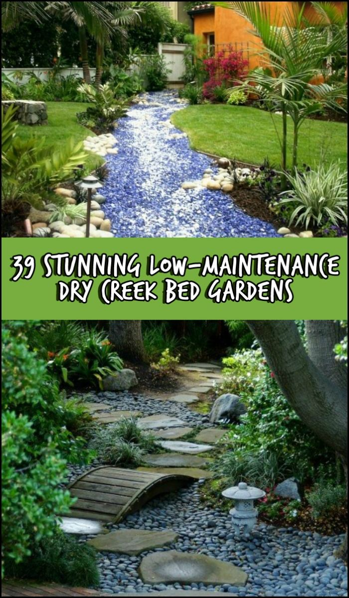 dry creek bed gardens landscaping