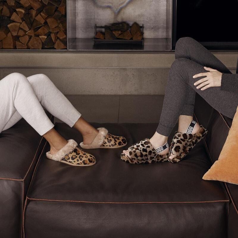 chausson ugg femme leopard