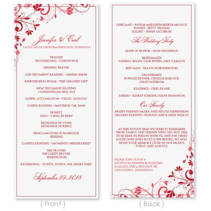 Wedding Program Template Instant Download EDIT WORDING Chic - Wedding invitation templates: wedding program template word