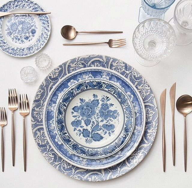 Extravagant Place Setting, Winter Weddings, Fine China, Flatware, China  Pattern, Blue