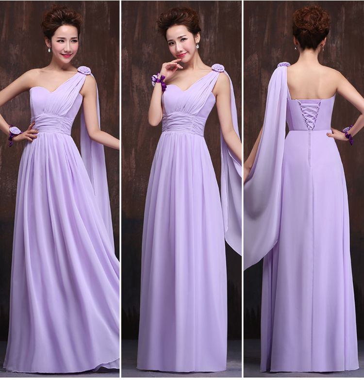 Long Lavender Champagne Bridesmaid Dress | Bridesmaid Dresses ...