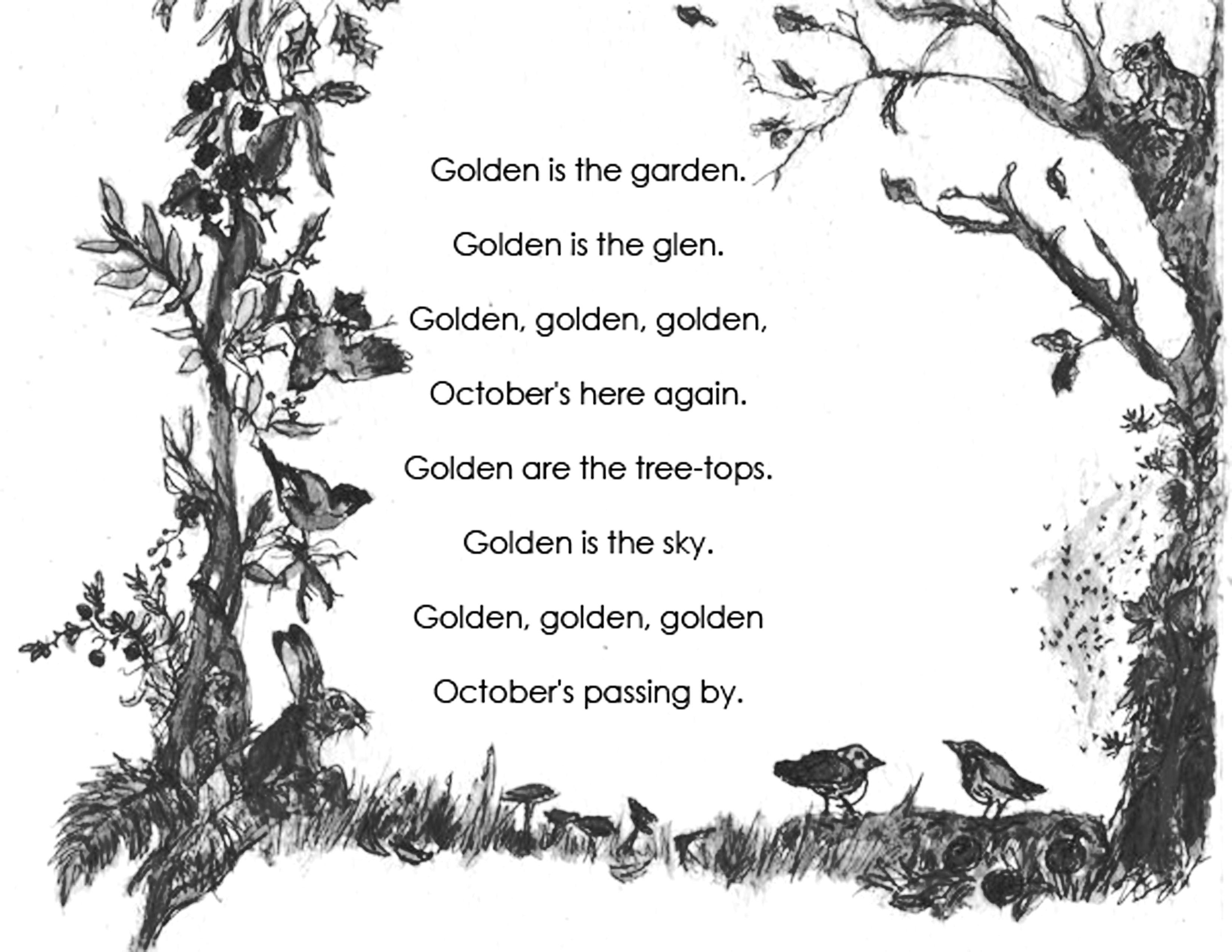 October Poem, Poems