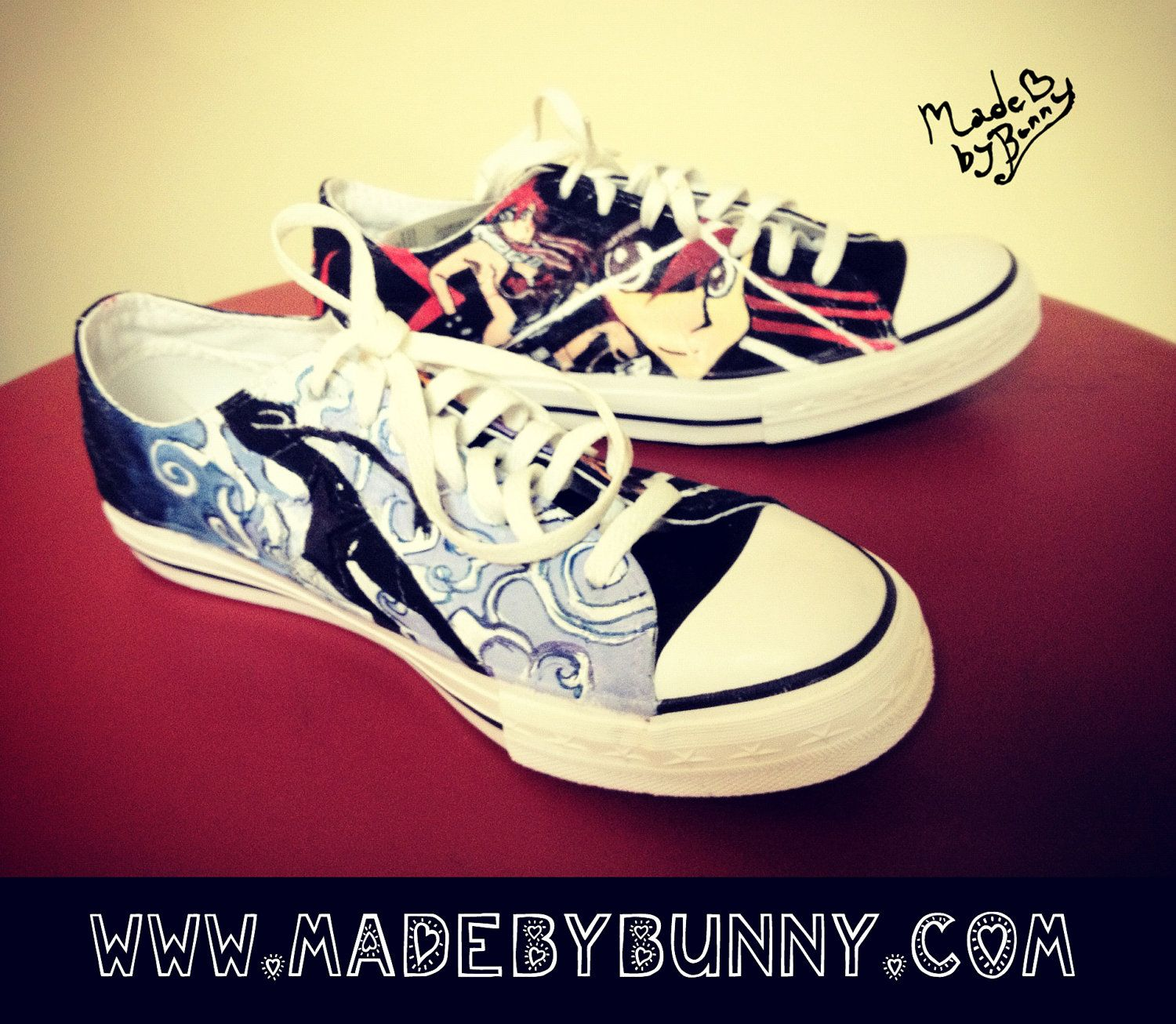5adfbe645b41 Custom Hand-Painted Canvas Shoes - any canvas shoe made with your favorite  Anime