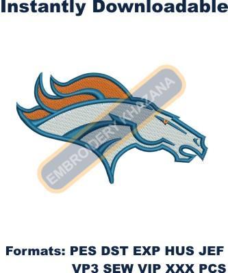 Denver Broncos Logo embroidery design in 2020 Denver