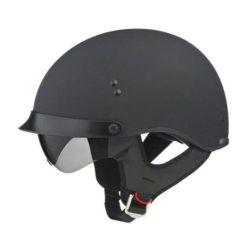 NEW GMAX GM-65 GLOSS BLACK FULL DRESSED HALF HELMET HARLEY INDIAN CRUISER