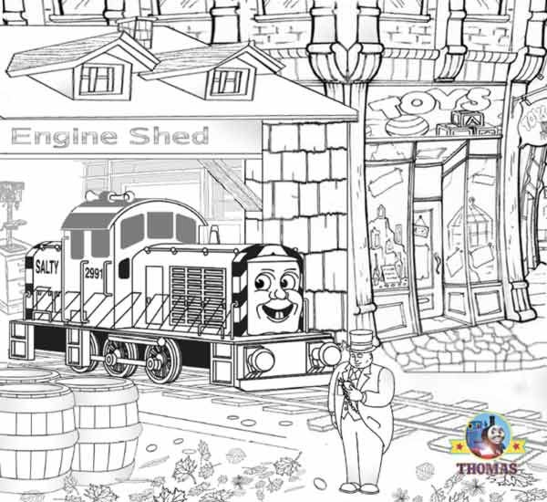 Thomas The Tank Engine Coloring Pages Online | Free Printable ...