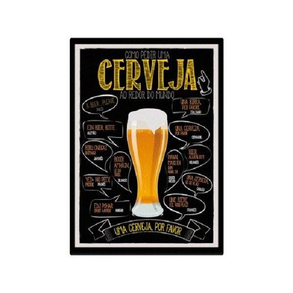 Placa como pedir uma Cerveja - Geek / Nerd