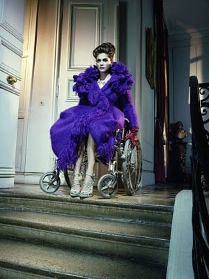 """The Look:  """"Whatever Happened to Baby Jane?"""" - Elisa Sednaoui photographed by Miles Aldridge for Vogue Italia's September 2010 """"Like a Movie"""" editorial."""