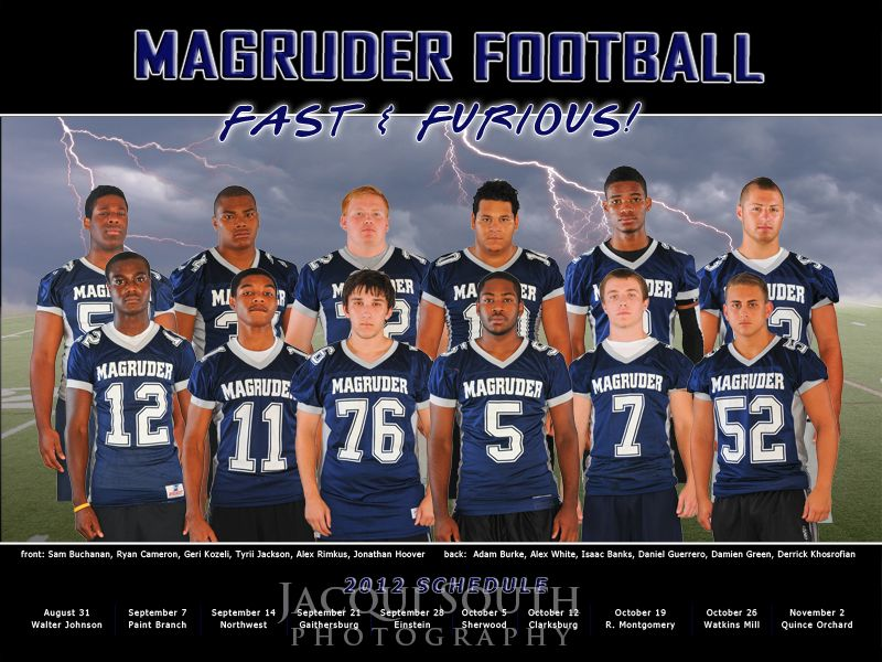 Magruder High School football composite poster. Combined