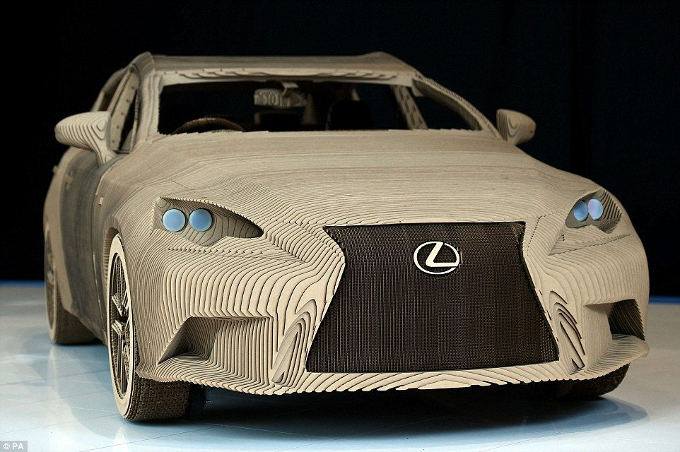The car made with CARDBOARD: Lexus creates working full size ...