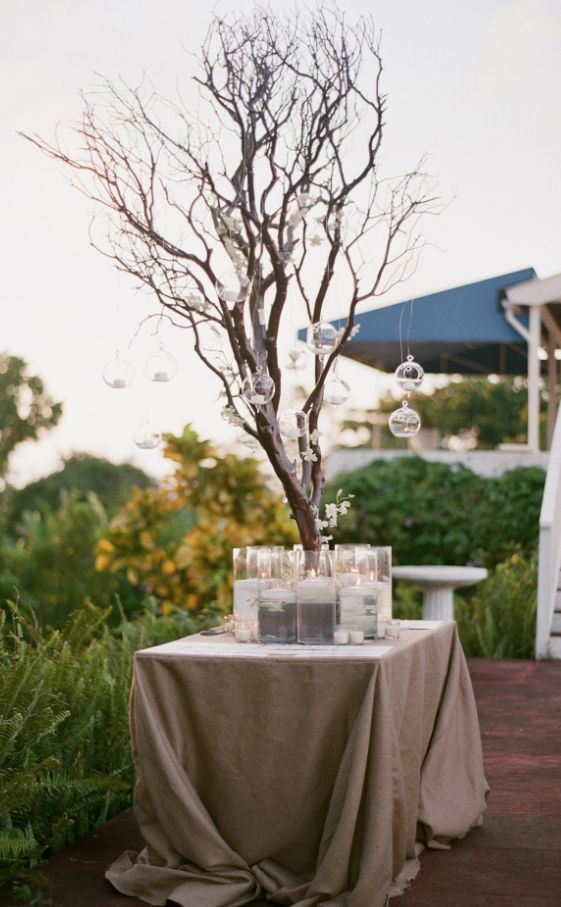Wedding reception centerpiece idea; Featured Photographer: Elizabeth Messina Photography