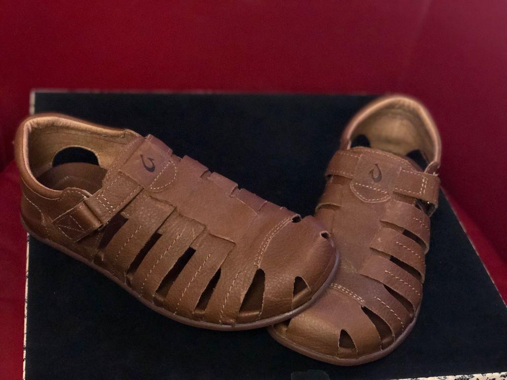 bfb2d46e91ba NEW OLUKAI Mohalu Fisherman Leather Sandals Ginger Men s size 9  fashion   clothing  shoes
