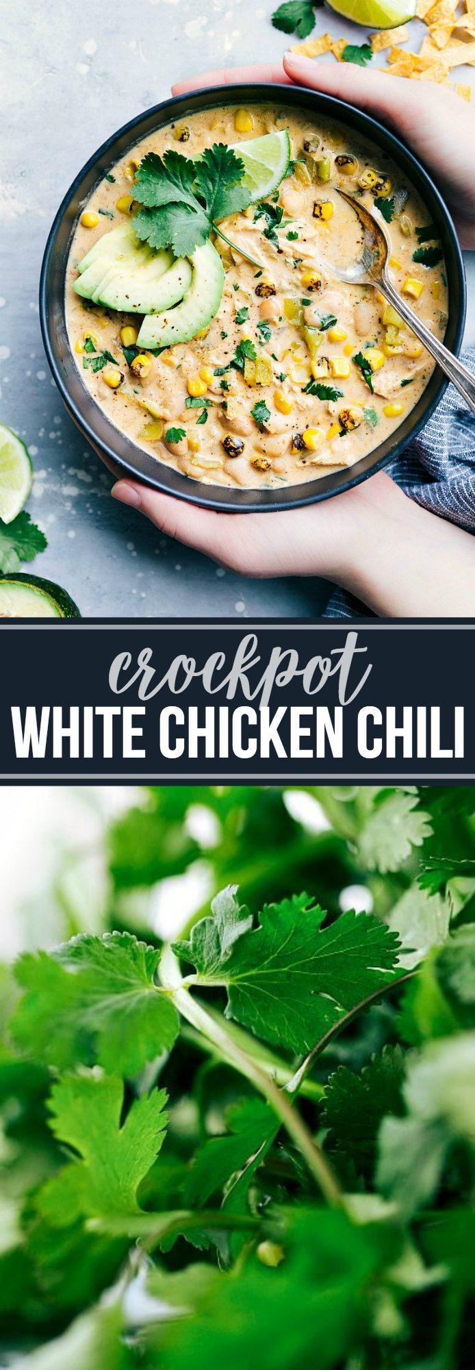 CrockPot White Chicken Chili {Secret Ingredient!}   Chelsea's Messy Apron