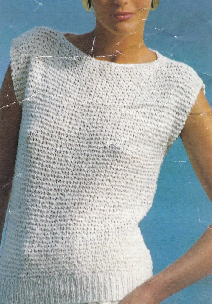 Vintage Knitting Pattern Instructions For Ladies Spring Jumper Good