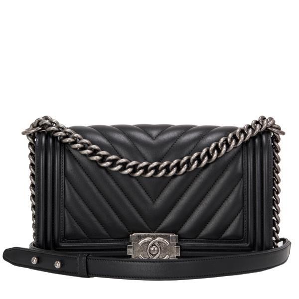 89f0e0530fb1f2 Chanel Boy Bag Black Chevron Medium #chanel | ! ♥ Fashion......Love ...