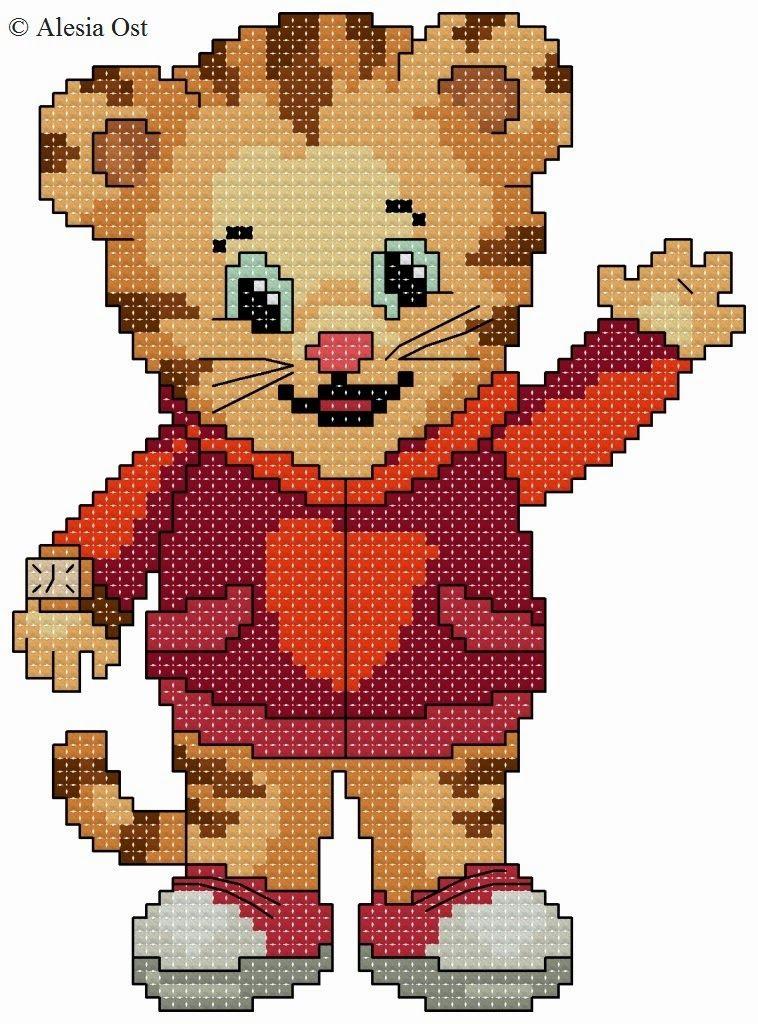 Daniel Tiger | cross stitch | Pinterest | Daniel tiger, Tigers and ...