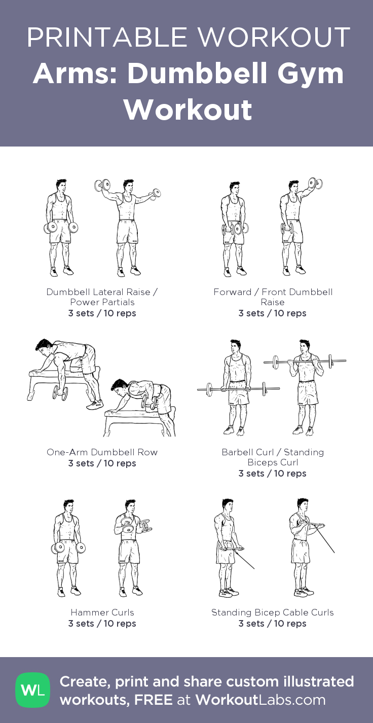 arms dumbbell gym workout my visual workout created at workoutlabs