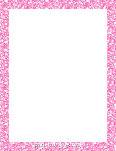 pink glitter border kancl