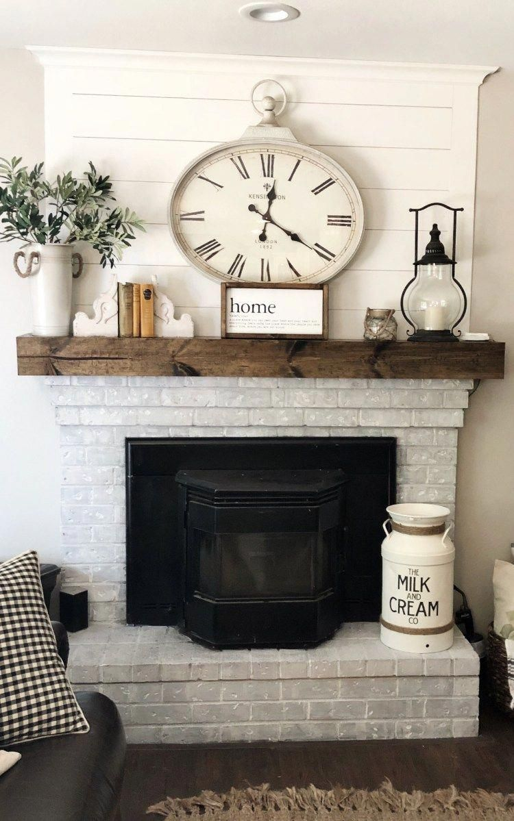 The Faux Farmhouse Home Decor Diy On A Budget Homedecordiyideas Wood Mantle Home Fireplace Home Decor Accessories