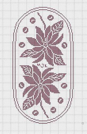Schema Uncinetto Centrino Con Stelle Di Natale Duge Pinterest