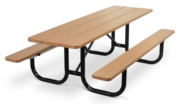 Model PMB-8PCE | Park Master 8ft. Recycled Plastic Picnic Table with ...