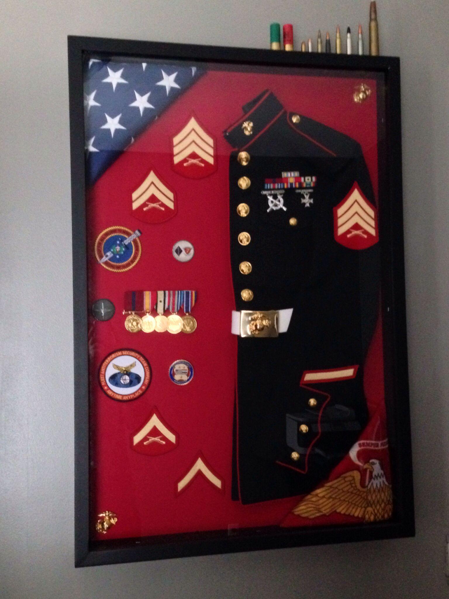 ca7ac755df0 Marine Corps Shadow Box.  dressblues  usmc