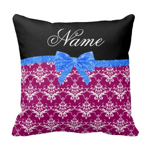>>>Are you looking for          	Custom name magenta pink damask blue glitter bow throw pillow           	Custom name magenta pink damask blue glitter bow throw pillow We have the best promotion for you and if you are interested in the related item or need more information reviews from the x cus...Cleck Hot Deals >>> http://www.zazzle.com/custom_name_magenta_pink_damask_blue_glitter_bow_pillow-189712690178695650?rf=238627982471231924&zbar=1&tc=terrest