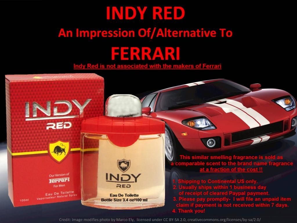 Indy Red Cologne Edt 34 Oz Spray Our Impression Version Of Ferrari