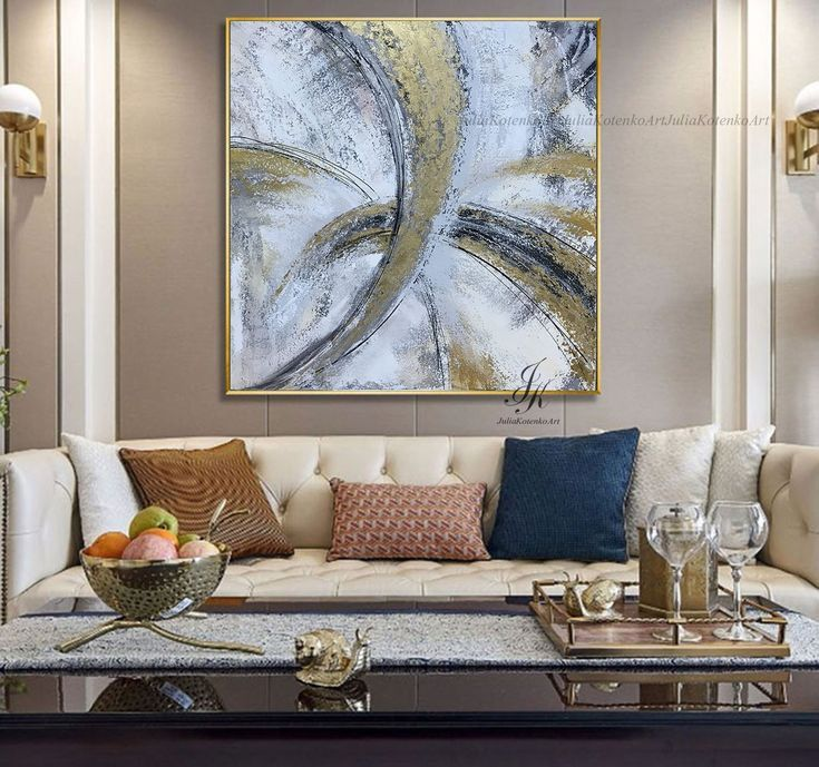 extra large wall art textured art gold leaf canvas art on large wall art id=41431