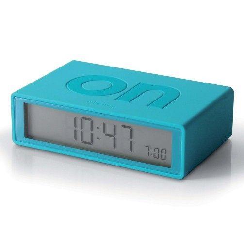 The teal blue Lexon Flip Clock! An award winning alarm clock that ...