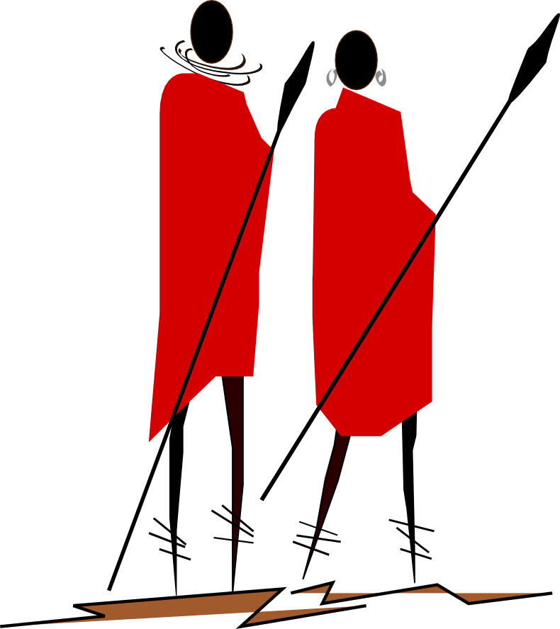Warrior Trails Safari Company Logo; Maasai Warriors
