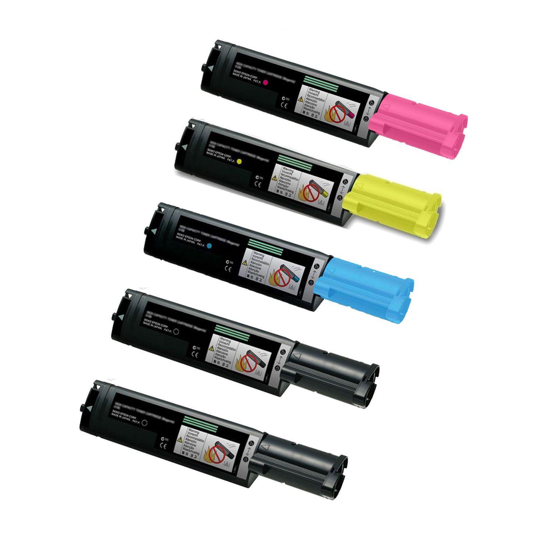 N 1 Set + 1 BK Compatible S050190 S050189 S050188 S050187 Toner Cartridges for Epson CX11 CX11N CX11NF C1100