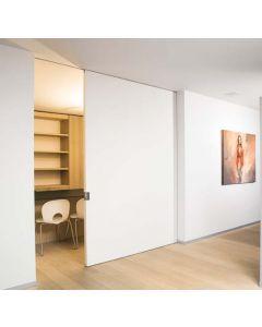 Xinnix X5 single sliding door in the wall system – wooden door