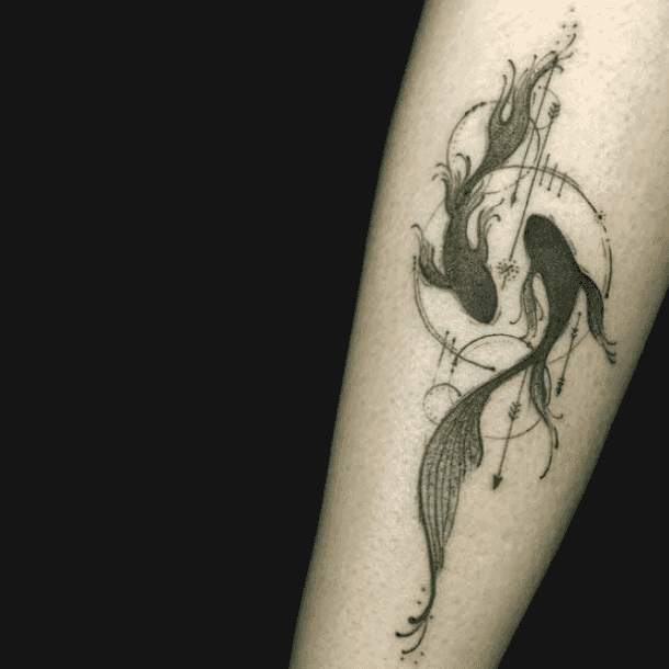 25 Pisces Tattoo Ideas Fish Tattoos For Pisces Zodiac Signs