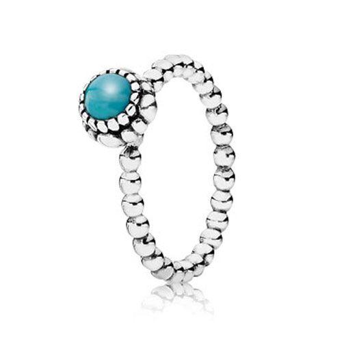Pandora Turquoise December Birthday Bloom Ring Pandora
