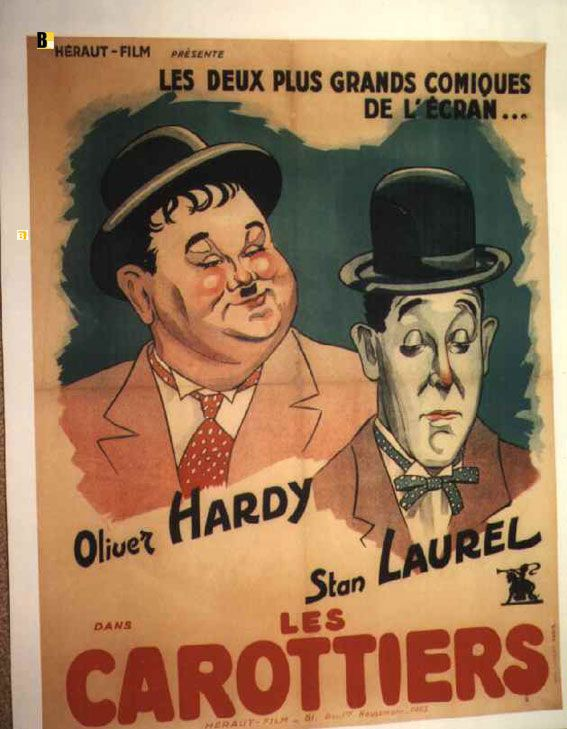The Big Noise Old Laurel /& Hardy Film Advertising poster reproduction