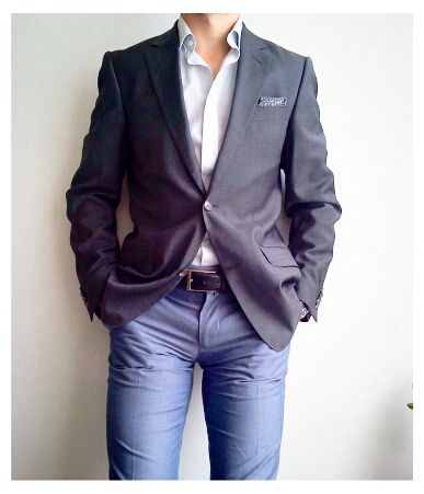 White shirt, jeans and a sport coat -- favorite look on a man...