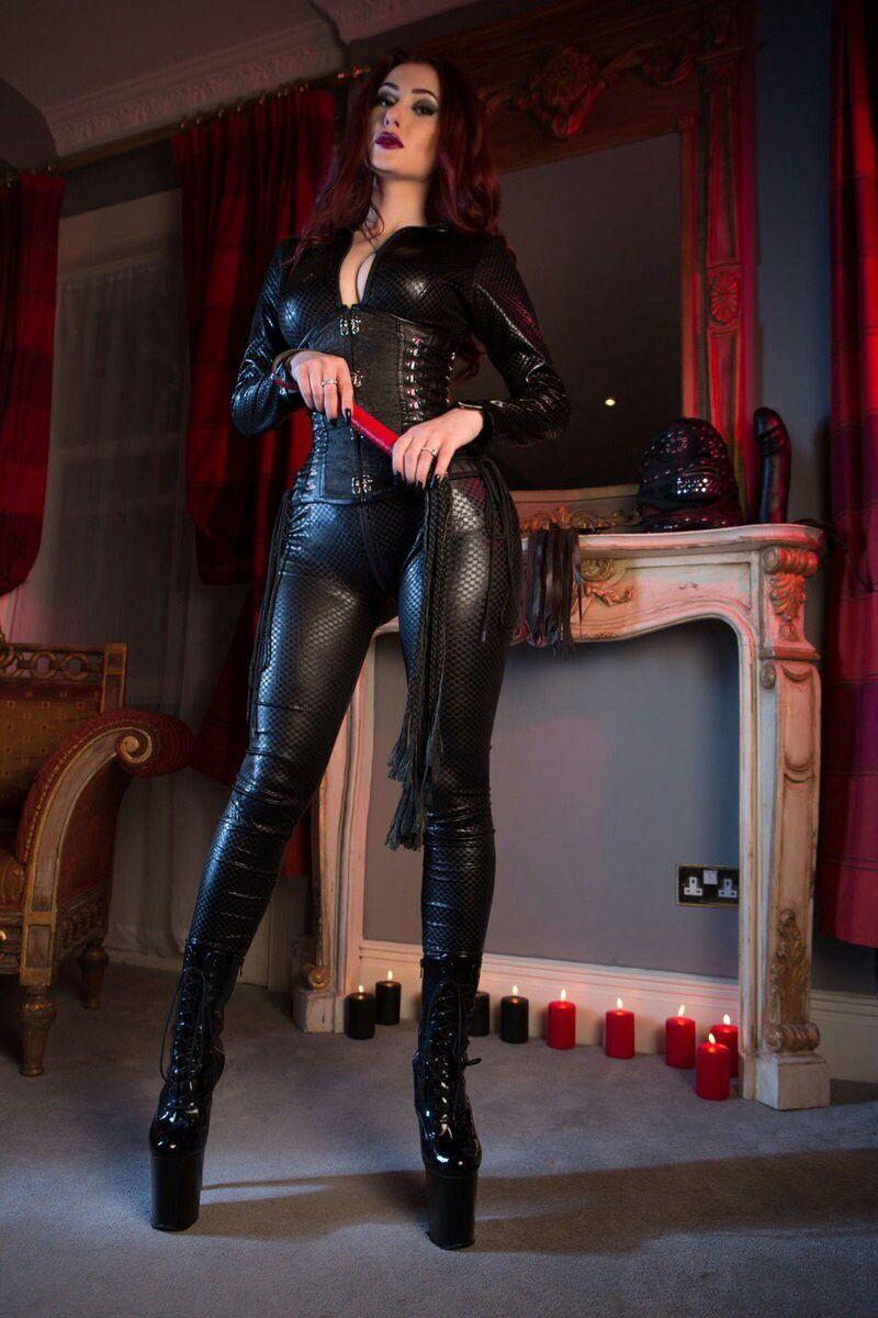 Minaj femdom high heels and leather first
