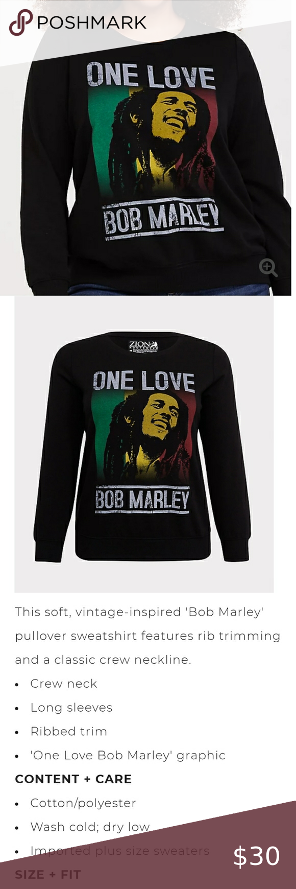 Torrid Bob Marley Sweatshirt Sweatshirts Bob Marley Torrid [ 1740 x 580 Pixel ]