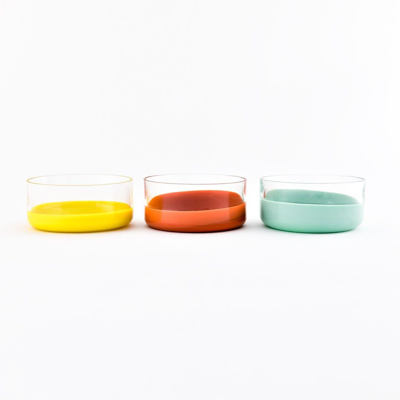 Set 6 coppette in vetro con fondo colorato SPOT COLLECTION by ...